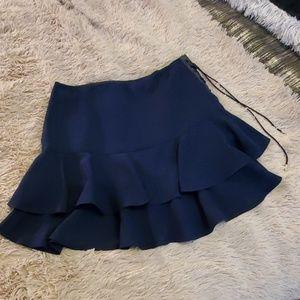 Navy blue Ralph Lauren ruffle mini skirt size 12